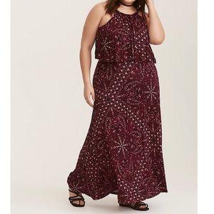 Torrid   Paisley Jersey Maxi Dress